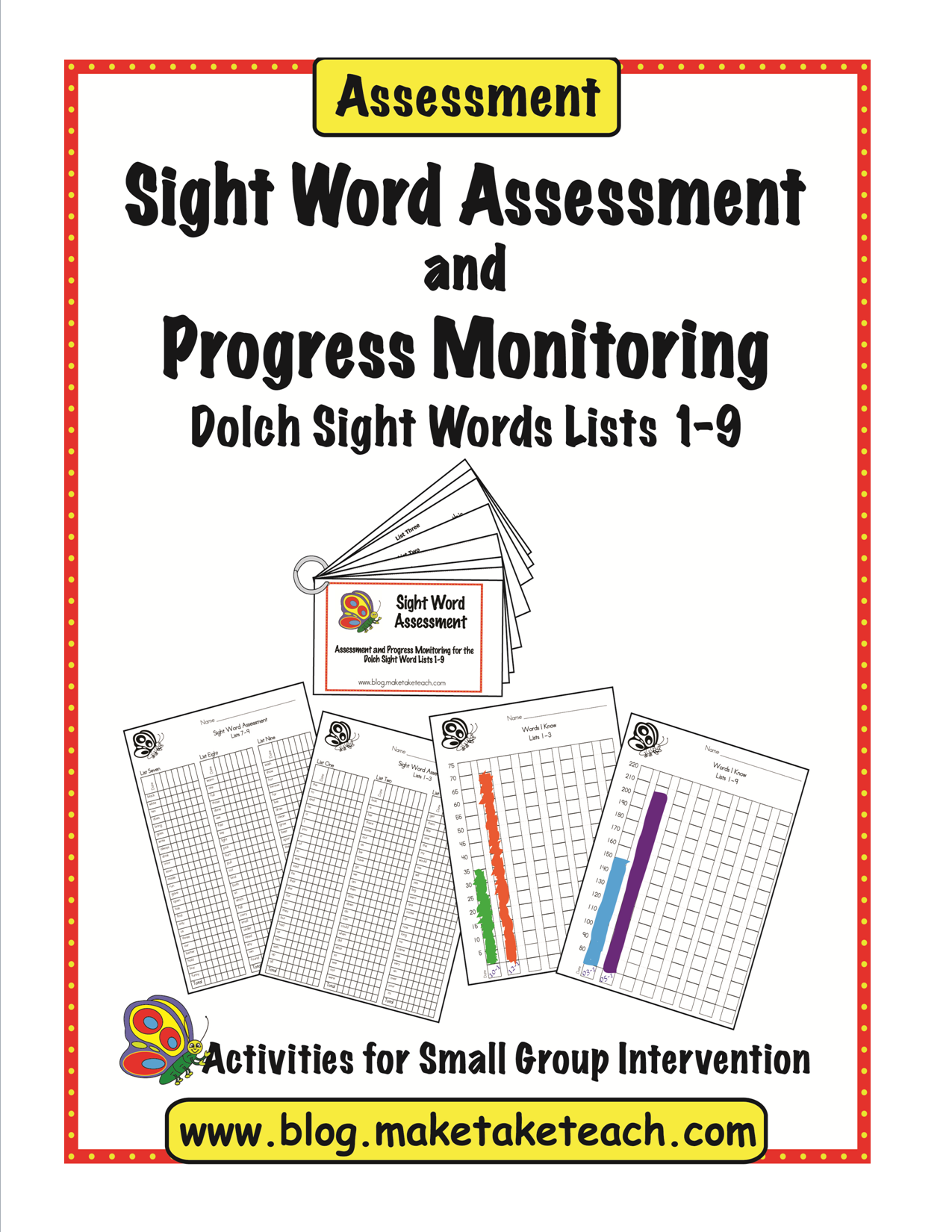 Word word activities parents  sight Sight Assessmentprevpg1 kindergarten for