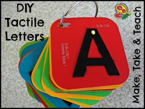 DIY Tactile Letters